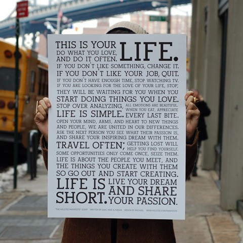 This Is Your Life Quote Impressive Steve Jobs Quote  Vim & Vintage  Designlifestyle.