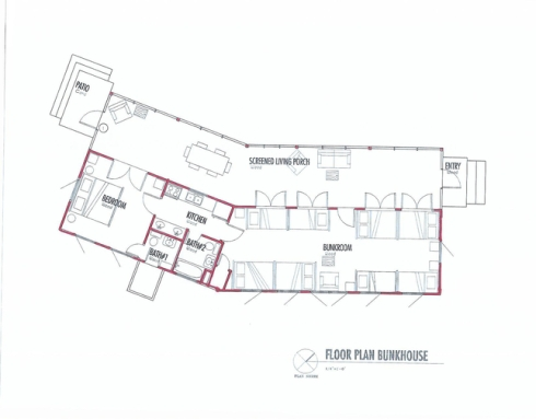 Texas bunkhouse vim vintage design life style for Bunkhouse floor plans