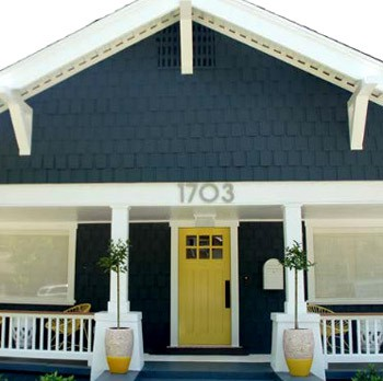 Color story navy yellow vim vintage design life style - Front door colors for blue house ...