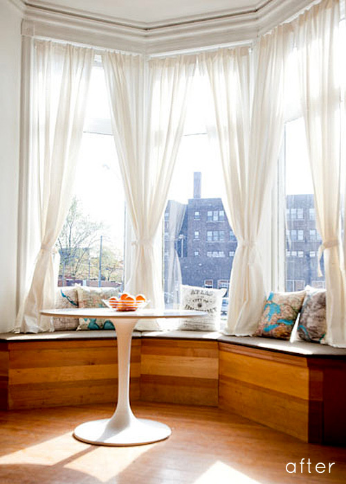 Reading nook vim vintage design life style for Window seat curtains