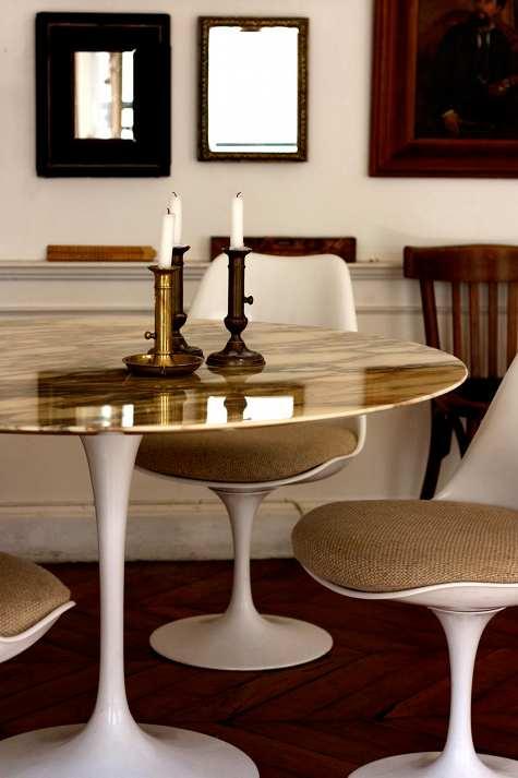 Gold Marble Sarinen Table Jpg