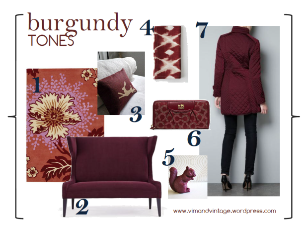 burgundy tones inspiration board