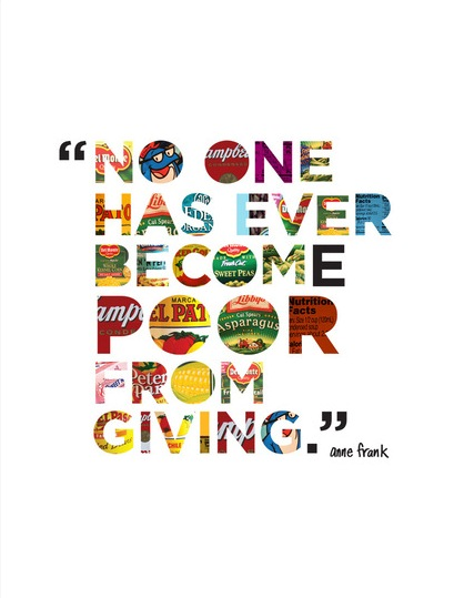 no one has ever become poor from giving - anne frank