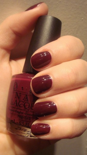 oxblood nail polish