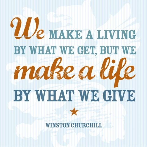 Winston Churchill Quotes We Make a Living