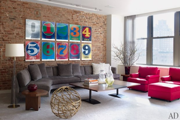will farrell loft living room