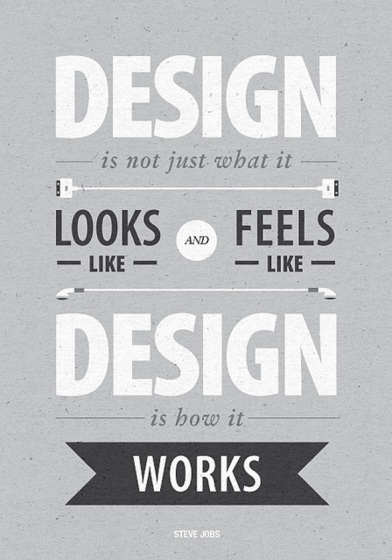 design quote steve jobs