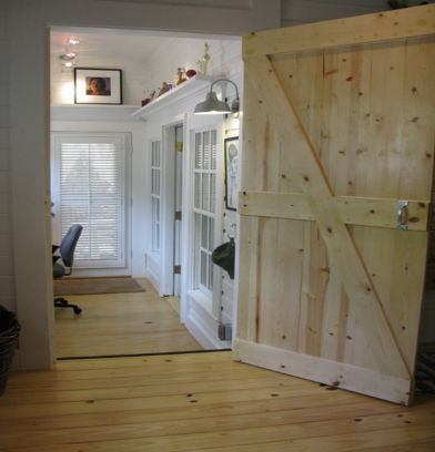 pine door and floors