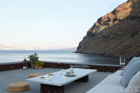 Santorini Greece - Terrace Elle Decor