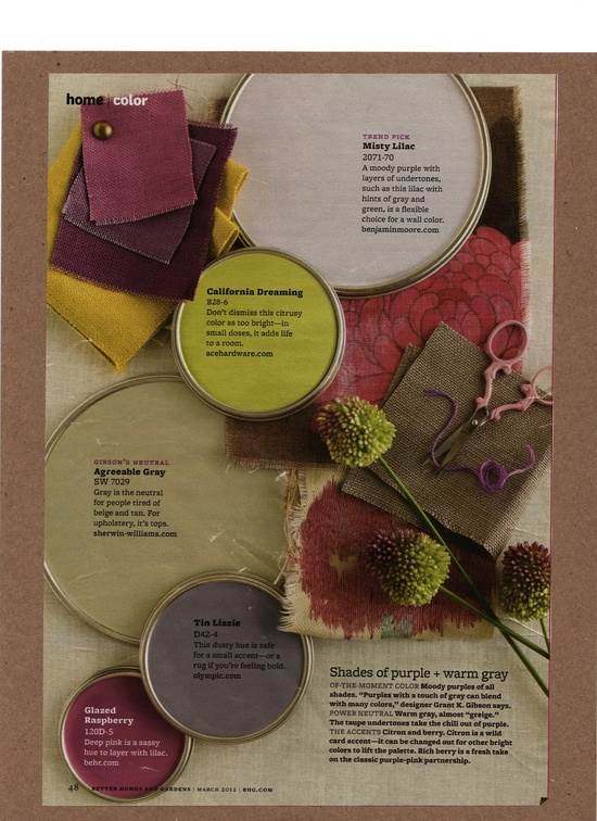 plum and green paint colors