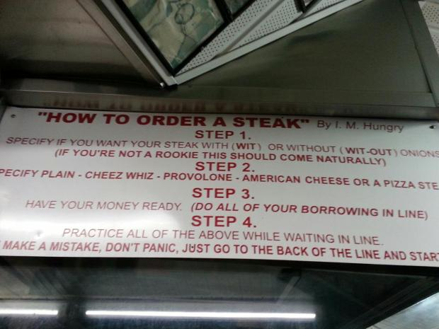 How to Order a Cheese Steak