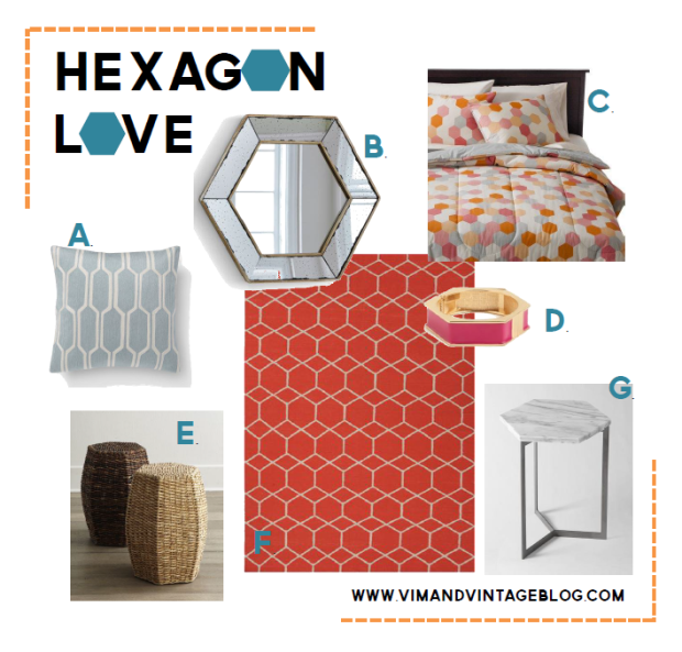 hexagon inspiration board