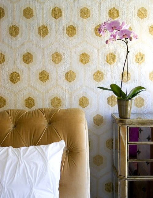 honeycomb painted wall DIY