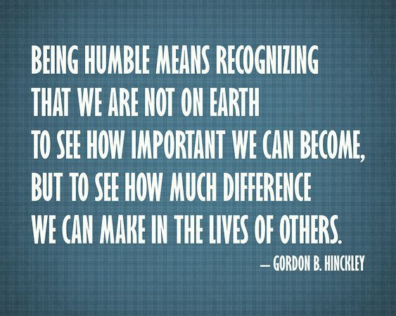 quote about being humble