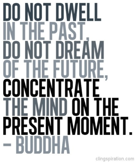 concentrate the mind on the present moment buddha