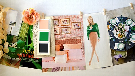 green and peach inspiration