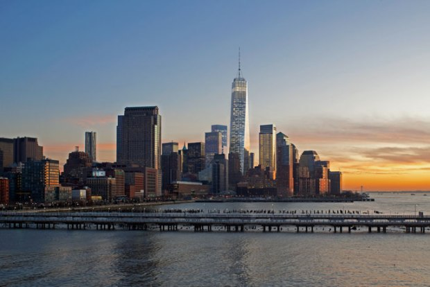 View of the new World Trade Center