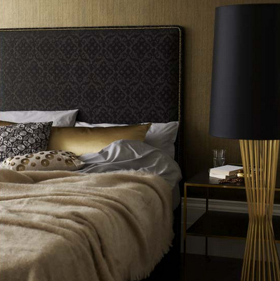 Charcoal & Gold Bedroom