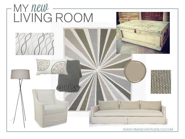 Living Room Inspiration Board - Vim&Vintage