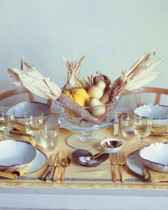 Corn Table Decor