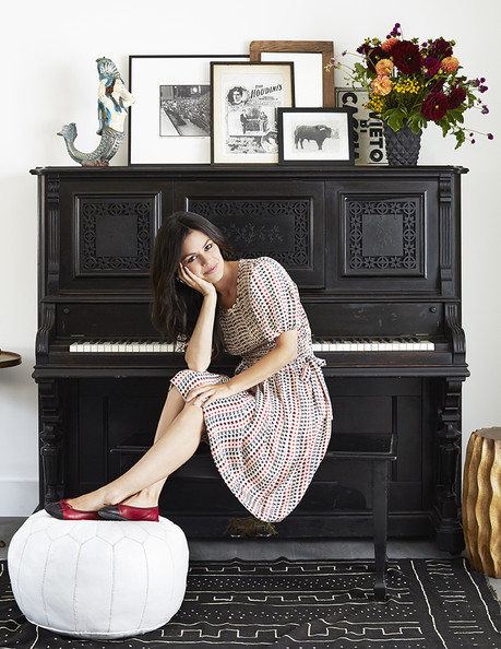 Rachel Bilson with Antique Piano