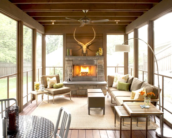 Rustic Modern Sunroom
