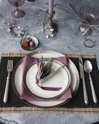 Sophisticated Lavender Table Setting