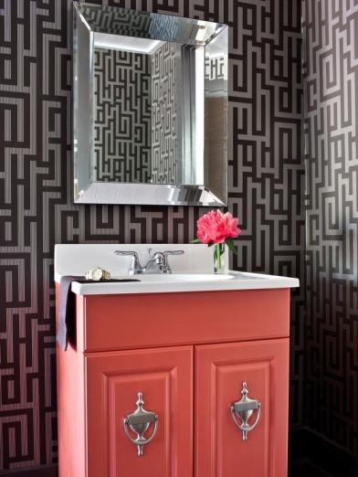 coral vanity