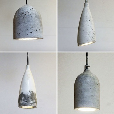 DIY Concrete Pendants