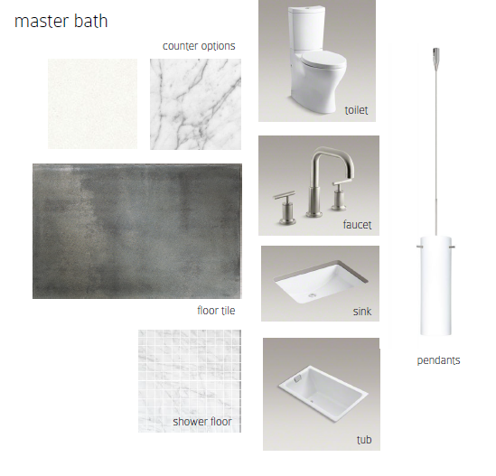 master bath selections - Vim & Vintage blog