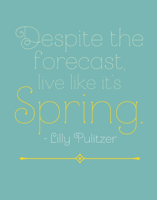 Spring quote by Lily Pulitzer