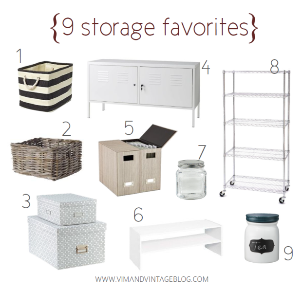 9 Favorite Storage Solutions - Vim & Vintage