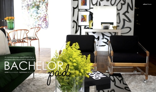 Bachelor Pad - Adore Home Magazine June-July 2012