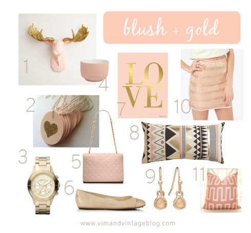 blush and gold color scheme- inspiration board