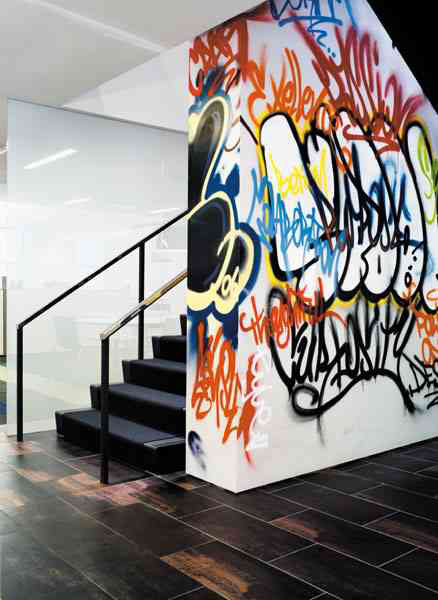 graffiti accent wall
