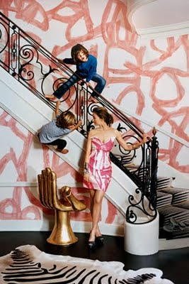 Kelly Wearstler's Home - graffiti wall