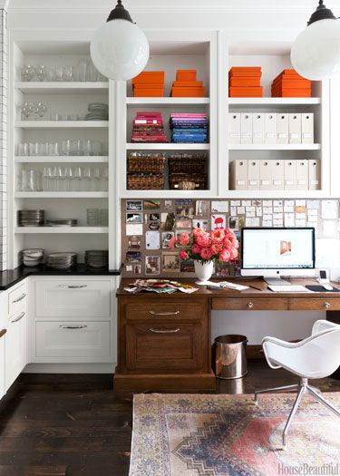 organized desk area