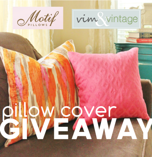 pillow cover giveaway!