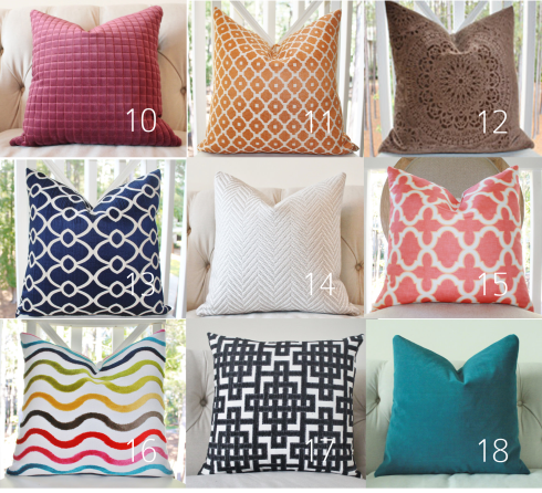 pillows from Motif Pillows!