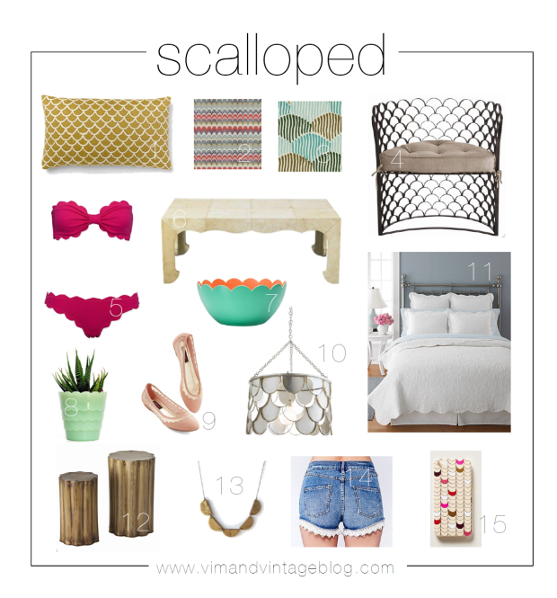 scalloped inspiration board - Vim & Vintage blog (may 2014)