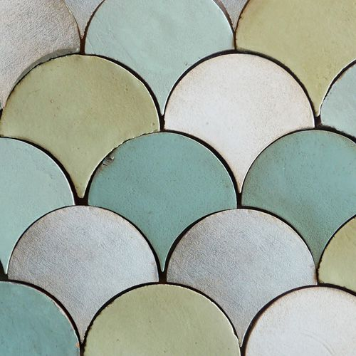 scalloped tile