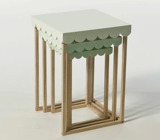 scallopped tables
