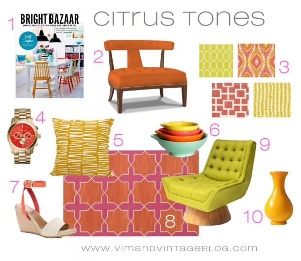 citrus tones color story inspiration board - Vim & Vintage