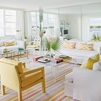 colorful living room, featured in Coastal Living