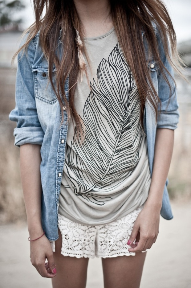 feather tshirt - sincerely jules