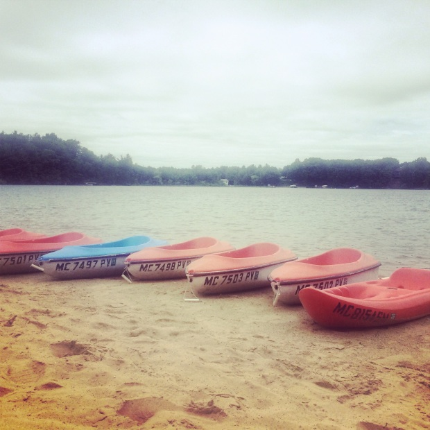 kayaks on Crystal Lake