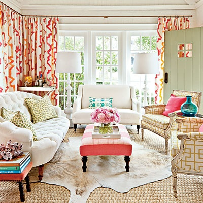 Lindsey Ellis Beatty Living Room - featured in Southern Living