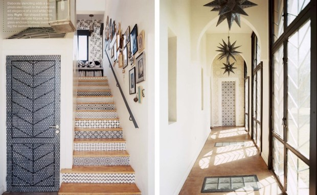 moroccan stair details