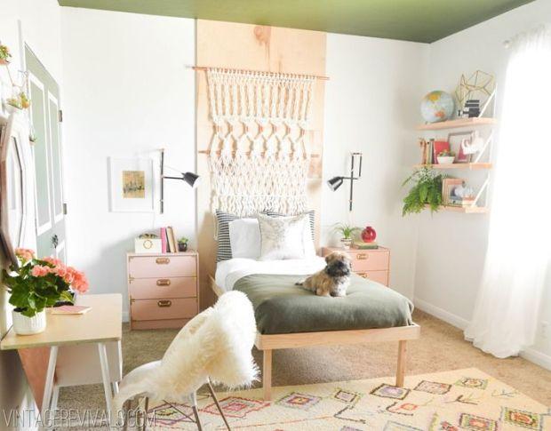 retro bohemian bedroom, featured on Vintage Revivals