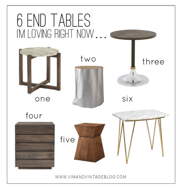 6 end tables I'm loving right now
